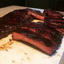 st louis style ribs fresh off of my oklahoma joe smoker bbq