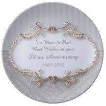 25th anniversary plate 25th wedding anniversary wall clock anniversary gifts