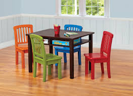 table for children s room ukid rectangle children s game table with 4 chairs chocolate finish