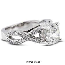 twisted shank engagement ring 14k white gold split twist shank engagement ring with 3 15 total