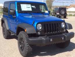 blue jeep 2014 jeep wrangler 4wd 2dr willys wheeler blue 4x4 suv