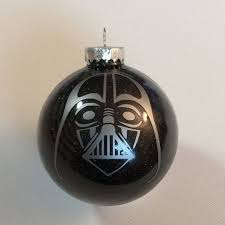 wars darth vader glitter ornament 3 25 glass