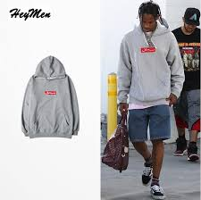 cheapest wholesale simple gray mens sweatshirts hip hop box logo
