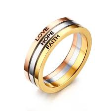 tricolor ring faith tricolor ring mandy s jewelry n more