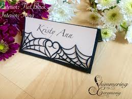 Table Name Cards by Spider Web Place Cards Laser Cut Name Cards Halloween Gothic Table
