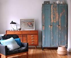 Wohnzimmer Ideen Retro Vorübergehender Himmelblauer Endzustand Spind Hellblau Und Freuen