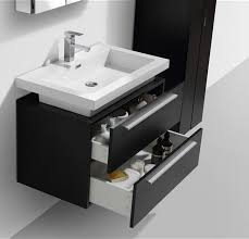 wall mounted sink vanity 32 black wall mount modern bathroom vanity with vessel sink