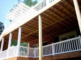 Deck Stairs Design Ideas Baby Nursery Two Story Deck Plans Two Story Deck Design Ideas By