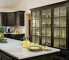 Chic Black Kitchen Cabinets With Glass Doors Kitchen Glass - Kitchen glass cabinets