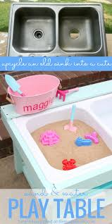 build a kids sand and water table from an old sink remodelaholic