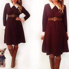 best red peter pan collar dress products on wanelo