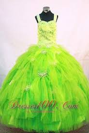 straps pick up bright green pageant dresses tulle beaded us 156 67