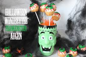 halloween special cake pop eye windbeutel frankenstein augen