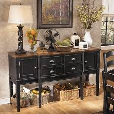 Dining Room Furniture Server Signature Design By Owingsville Black Brown Dining Room