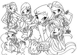 printable winx club coloring pages coloring
