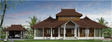 traditional kerala villa exterior in 3070 sq ft kerala home