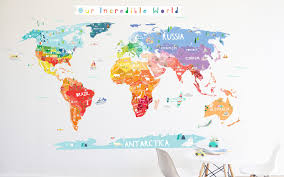 South Africa World Map by Designs World Map Wall Decal Sticker Together With World Map