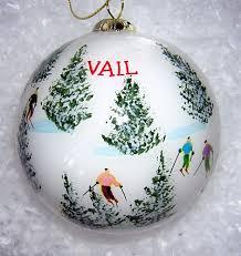 glass ski ornament
