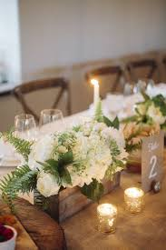 Wood Box Centerpiece by Best 20 White Flower Centerpieces Ideas On Pinterest White