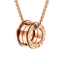 necklace gold pink images Bulgari b zero1 18ct pink gold pendant cl852407 jpg