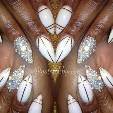 bling chains and gold foil u003d fun nail art by gotnailsnailtique1