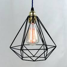 Wire Cage Light Industrial Hanging Cage Light Black Pendant Wire Uk Copper Lights