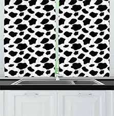 Cow Print Kitchen Curtains Cow Print Kitchen Curtains By Ambesonne Cattle Skin