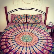 duvet cover hippy elephant print indian mandala cotton duvet