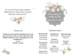 Diy Wedding Programs Templates 27 Free Wedding Program Templates You U0027ll Love