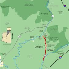americas byways red rock scenic byway map america s byways