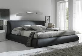 Modern Platform Bed King Modern Black Upholstered Floor King Bed Frame With Headboard For