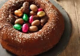 cuisine de paques gâteau nid de pâques au chocolat croquons la vie nestlé