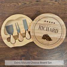 personalized cheese board set personalised cheese board set buy from prezzybox