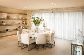 Furniture Arrangement Ideas  Dining Rooms With Round White - Modern round dining room table