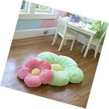 girls flower floor pillow seating cushion for a reading nook bed