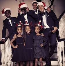 diddy shares christmas card with all his kids bossip