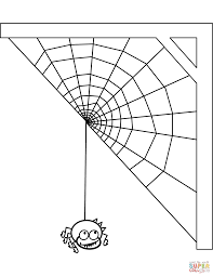 Spider And Spiderweb Coloring Page Free Printable Coloring Pages Spider Web Coloring Page