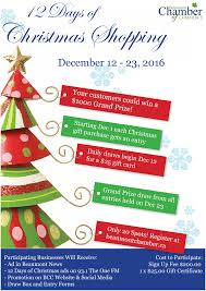 12 days of christmas shopping shopt4x beaumont chamber of