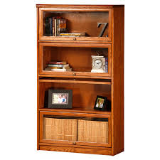 Altra Bookcase With Sliding Glass Doors by Eagle Furniture Oak Ridge Customizable 32 In Wide Lawyer Bookcase