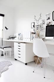 bureaux blancs le bureau noir et blanc de de stylizimo bureau bureaux