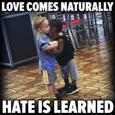 What The Meme - hate comes naturally love is learned thoughts that matter