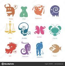 set of funny zodiac signs u2014 stock vector paseven 139273236