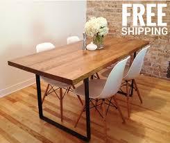 table de cuisine en fer forgé table de cuisine en bois massif avec base en fer forgé 2