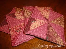 Quilted Rugs Quilted Drink Coasters Tutorial Crafty Gemini