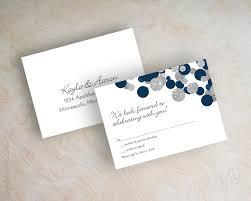 wedding invitations glitter kendall navy blue silver glitter wedding invitations appleberry