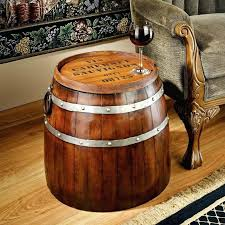 whiskey barrel side table barrel table vintage oak barrel table 2 whiskey barrel table top