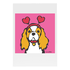 new s day cavalier king charles card marc tetro