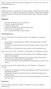 Resume Templates And Examples by Professional Chiropractic Assistant Templates To Showcase Your