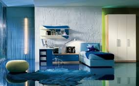 Blue Architectural Planning Girls Room Design Decorating Little - Blue bedroom ideas for teenage girls