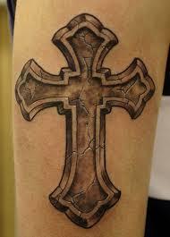 Crosses Tattoos - simple looking cross tattoomagz